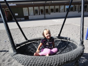 Sofie vid Lillsjöskolan.